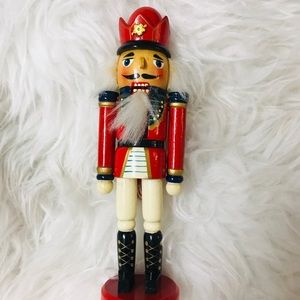 In great condition hand- crafted wood nutcracker